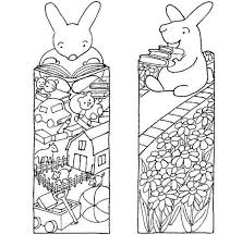 bunny printable bookmarks color allfreepapercrafts