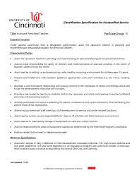 Sample Resume For Daycare Teacher by Sample Resume Child Care Teacher