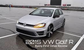 rainy first drive review 2015 volkswagen golf r youtube