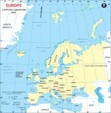 european countries on a map europe latitude and longitude map lat maps of european countries