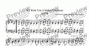 we wish you a merry satb