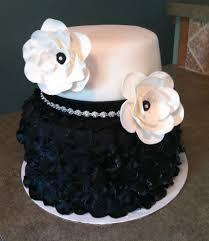 black and white birthday cake 2 tier petal cake cakecentral com