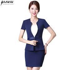 summer 2017 new formal women skirt suit set temperament short