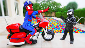 bad baby spiderman pretend play venom mickey mouse colors