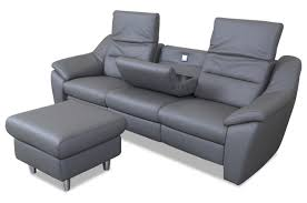 3er sofa grau leder 3er sofa mit hocker grau sofas zum halben preis