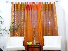 Sari Fabric Curtains Indian Cotton Silk Curtains Drapes Window Ethnic Custom 1 2