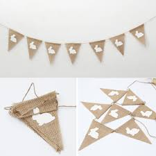 Easter Decorations Bunting by Aliexpress Com Buy 2m Diy Easter Decoration Vintage Jute Hessian