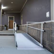 Home Handrails Ez Access Gateway Aluminum Wheelchair Ramps With Handrails