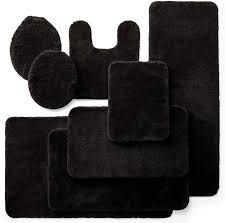 Bathroom Contour Rugs Cozy Black Bathroom Rugs Imposing Decoration Mainstays Bath Mats