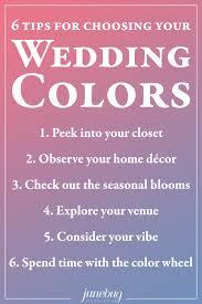 wedding tips 6 tips for choosing your wedding colors junebug weddings