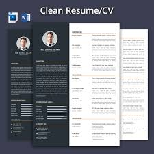 clean resume template clean resume cv 2017 resume templates creative market