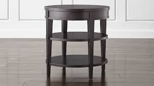 awesome colette round side table with drawer crate and barrel with