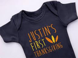 baby boy thanksgiving personalized thanksgiving bodysuit