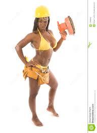 pretty hispanic black woman contractor stock photos image