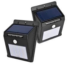 Solar Security Motion Sensor Light by Solar Motion Sensor Light 3 Pack Upgrade Version 6 Led Wireless