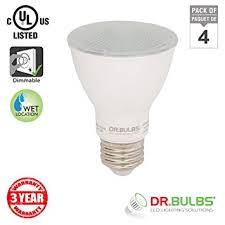 wet rated light bulbs bulbs pack of 4 7w 50w eq par20 dimmable wet location rated led