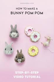 how to make a bunny pom pom pom maker blog