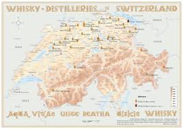 Map Of Switzerland And Germany by Distilleries Switzerland Poster 60x42cm Standard Edition