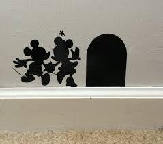 disney wall decal etsy mickey and minnie vinyl wall decal disney art sticker