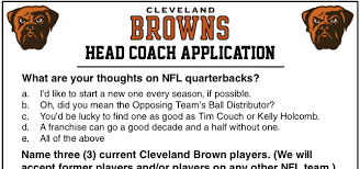 Cleveland Brown Memes - cleveland browns head coach application korked bats