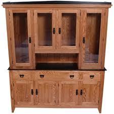 quarter sawn oak shaker kitchen cabinets 44 x 84 x 20 quarter sawn oak shaker hutch two doors