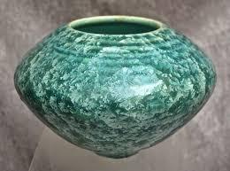 Studio Pottery Vase Studio Pottery Vase Green Crystalline Glaze From