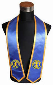 cheap graduation stoles interact club royal blue graduation stole with gold trim as low as