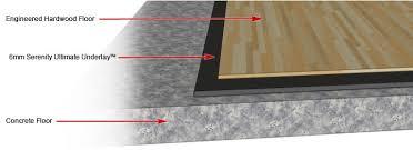 best underlayment for engineered hardwood floors on concrete