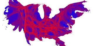 california map population density here s the 2016 election results map adjusted for population