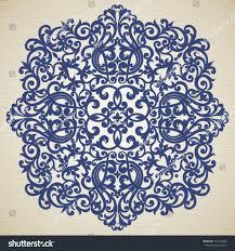 Victorian Decoration Vector Baroque Ornament Victorian Style Element Stock Vector