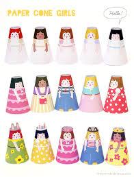 printable paper dolls cone girls 3d paper dolls mr printables