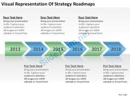 strategy roadmap powerpoint template business flowcharts visual