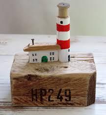 driftwood art lighthouse nautical gift for him uk seller