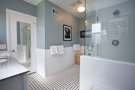Traditional Black And White Tile Bathroom Remodel Traditional - Bathrooms with white tile