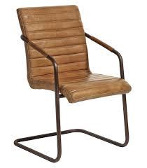 chaise cuir blanc chaise cuir métal nordal