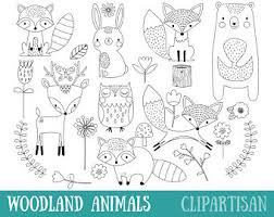 Woodland Animals Clipart Winter Woodland Animals Clip Woodland Animals Coloring Pages