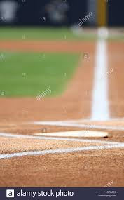 home plate baseball home plate foul line batters box chalk stock photo