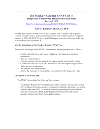 the mackay kummer snap test r simplified nasometric assessment