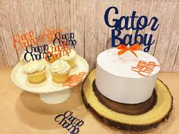 florida gator baby shower decorations florida gators cake topper