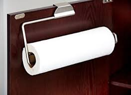 Kitchen Cabinet Paper Amazon Com Home Basics Over The Cabinet Paper Towel Holder