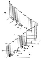 patent us20100107523 bent pole composite stairs google patents