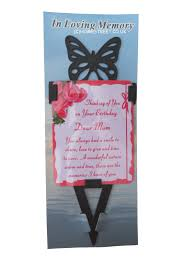 Wedding Invitation Cards Messages Birthday Memorial Butterfly Card Stake With Laminated Messages