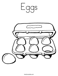 Eggs Coloring Page Twisty Noodle Egg Colouring Page