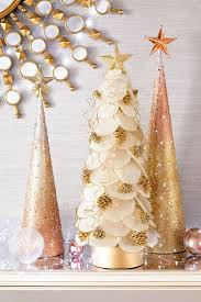 White Christmas Tree With Gold Decorations 1639 Best I Love Christmas Images On Pinterest Christmas Ideas