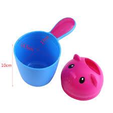 1x baby toddler shampoo shower bath spoon water rinse cup bath