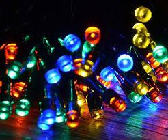 solar panel christmas lights powered christmas lights