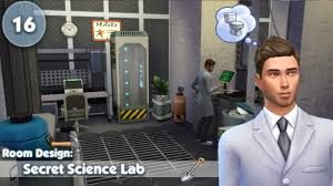 the sims 4 room design the secret science lab youtube