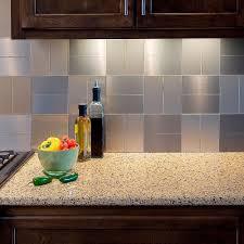 awesome metal backsplash appealing look tiles panels bq kitchen