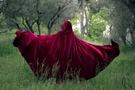 red riding hood stretch velvet cape costume cape fairytale