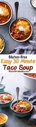 gluten free easy taco soup recipe with ranch dressing